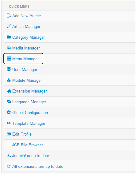menumanager