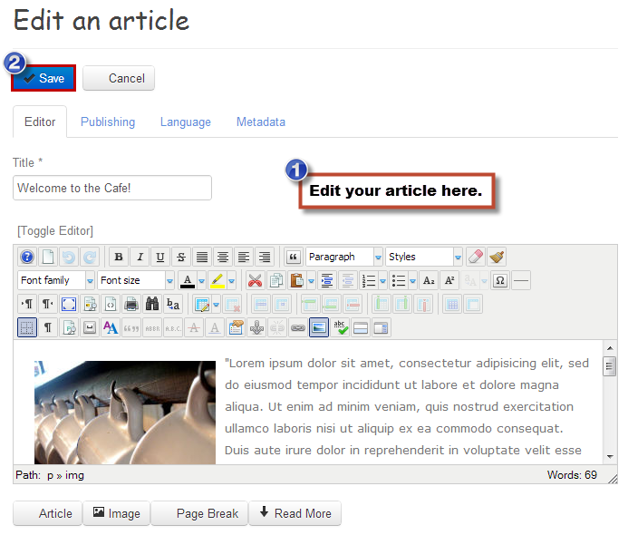 Article site
