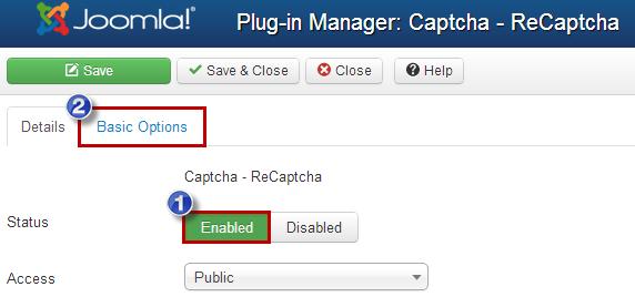 Enabling Captcha (Joomla 3)