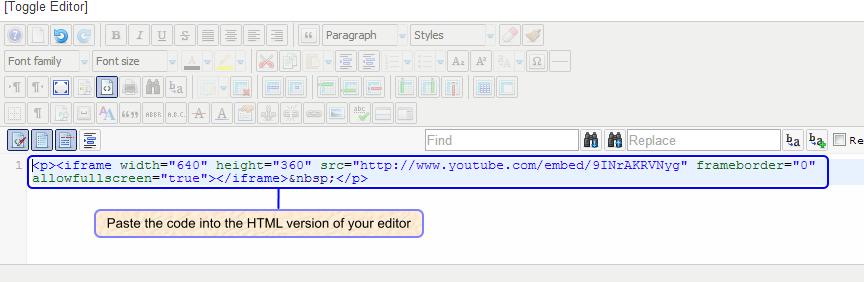 Embedding YouTube Videos (Joomla 3)