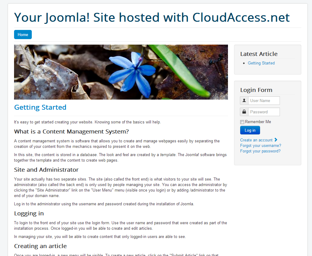 installing a quick start package joomla 3