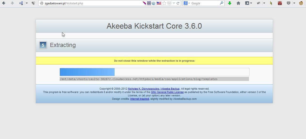 akeeba kickstart