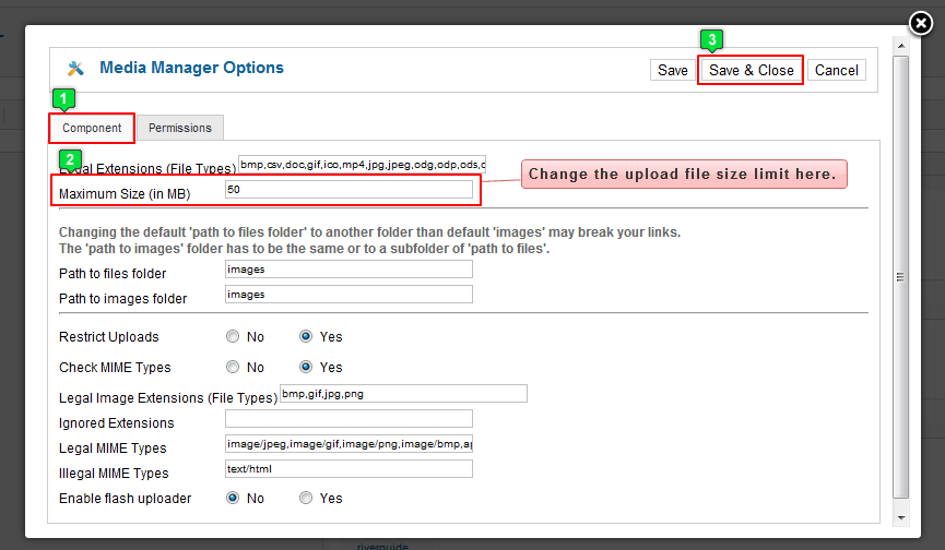 Increasing Upload File Size Limits (Joomla 2 5)
