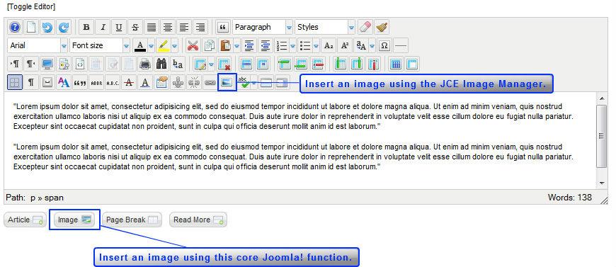 jce editor joomla 2.5