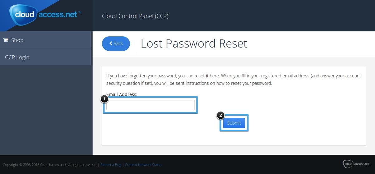 Changing Account & Application Passwords (Forgotten Password)