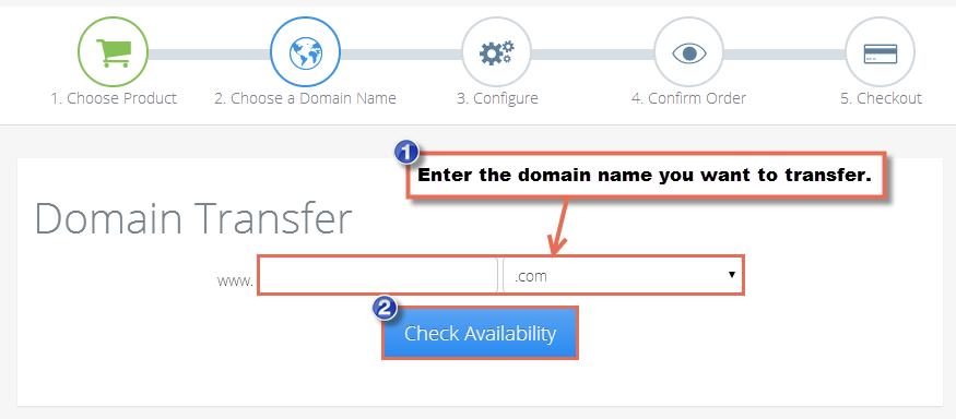Transferring a Domain Name to CloudAccess.net