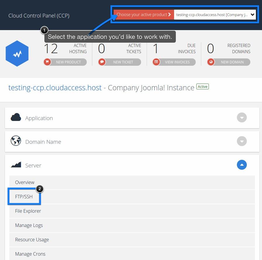 Locating FTP/SSH Login Details