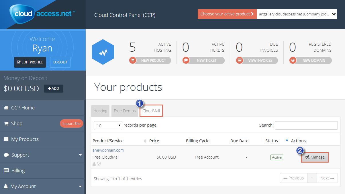 CloudMail User Management